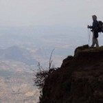 Darren trekking in the Simien Mountains National Park in Ethiopia